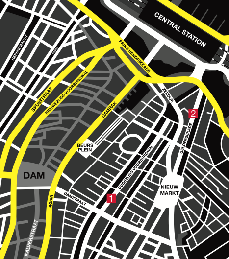 Map 2 locations in the Red Light District