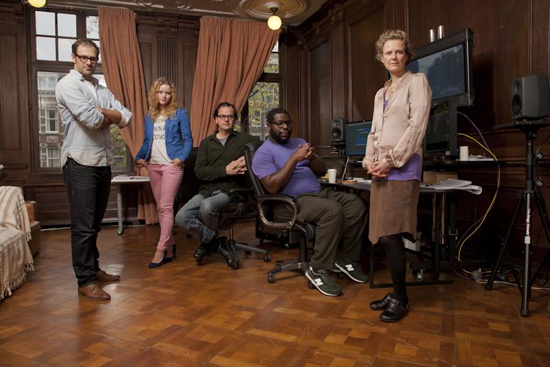 Steve McQueen groepsfoto editing crew 12 Years a slave